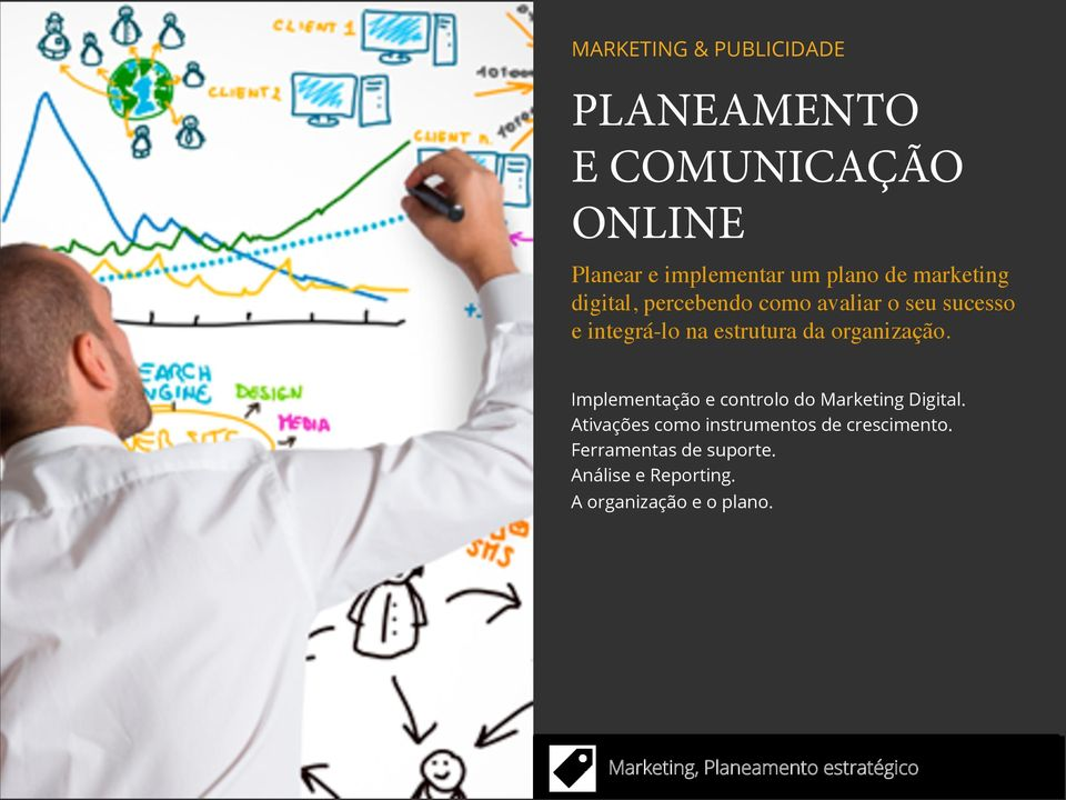 organização. Implementação e controlo do Marketing Digital.