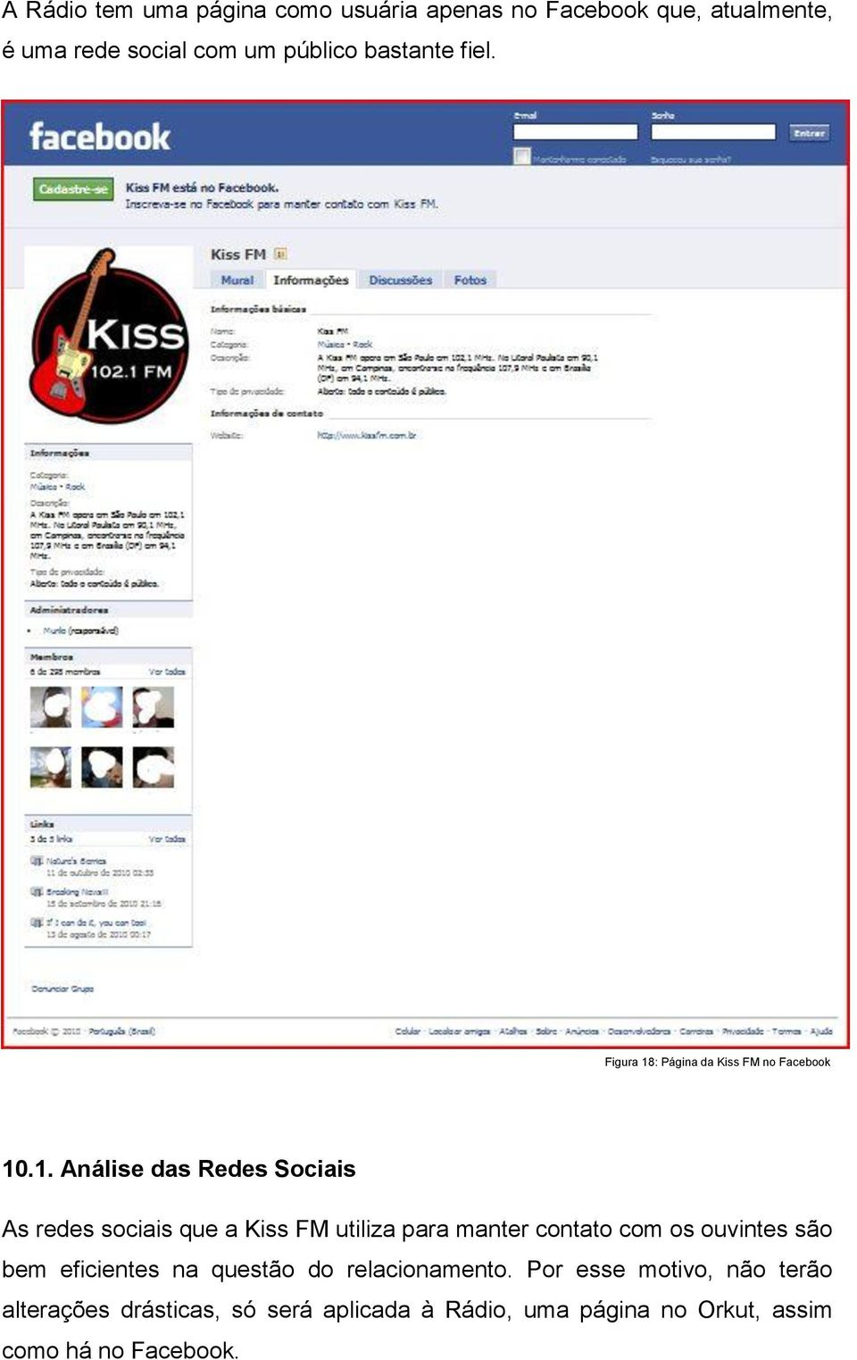: Página da Kiss FM no Facebook 10