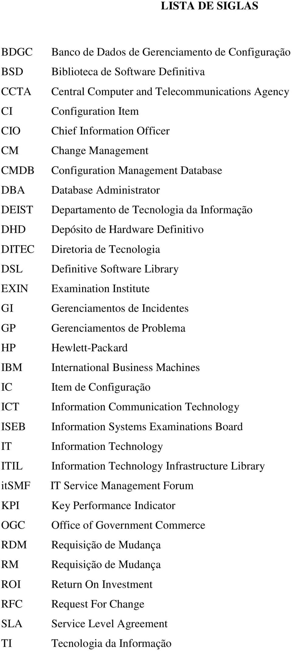 Administrator Departamento de Tecnologia da Informação Depósito de Hardware Definitivo Diretoria de Tecnologia Definitive Software Library Examination Institute Gerenciamentos de Incidentes
