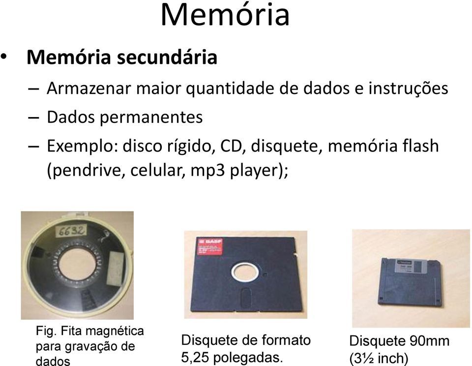 memória flash (pendrive, celular, mp3 player); Fig.