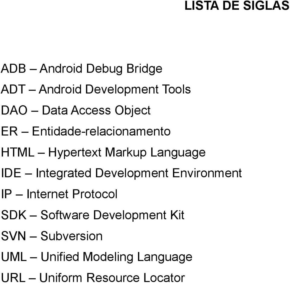 IDE Integrated Development Environment IP Internet Protocol SDK Software