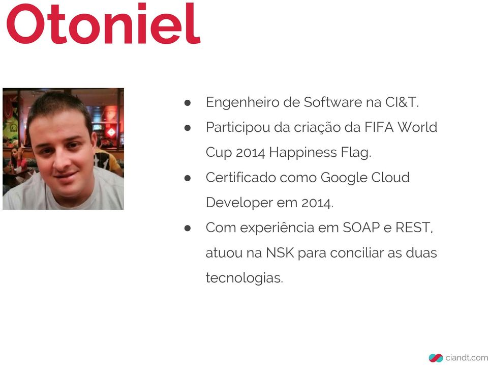 Flag. Certificado como Google Cloud Developer em 2014.