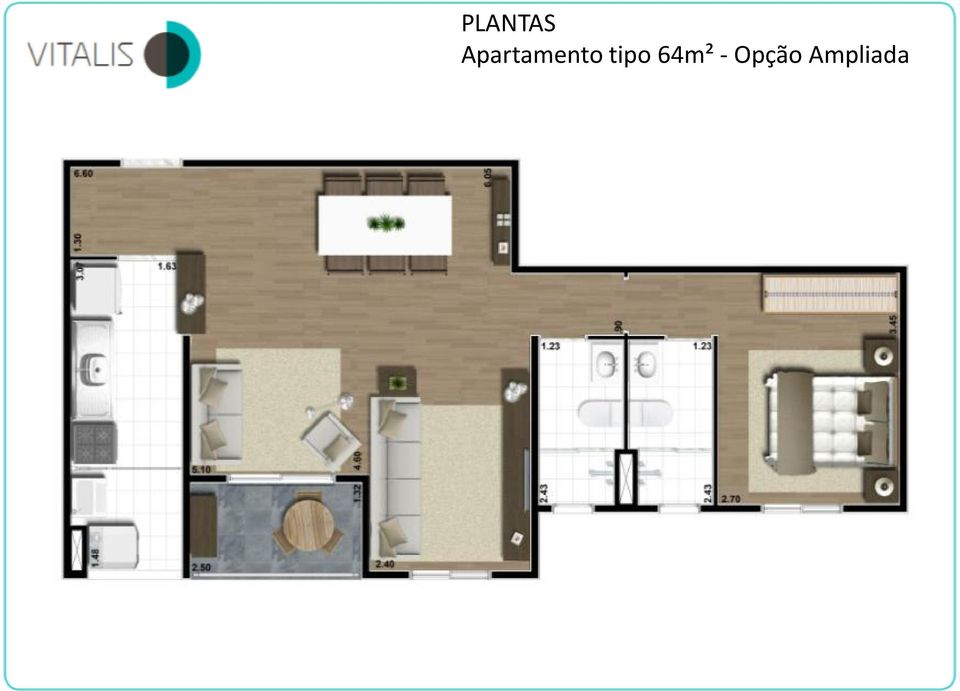 tipo 64m² -