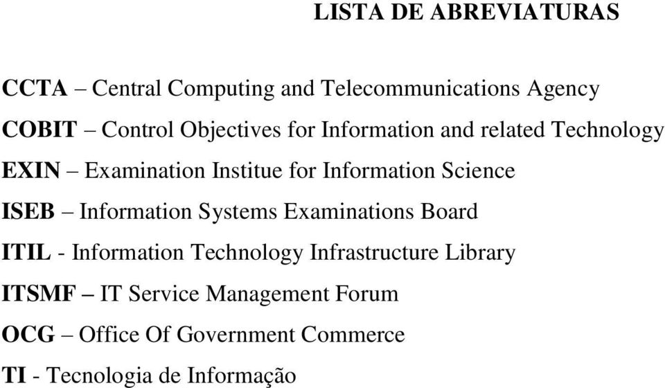 Science ISEB Information Systems Examinations Board ITIL - Information Technology