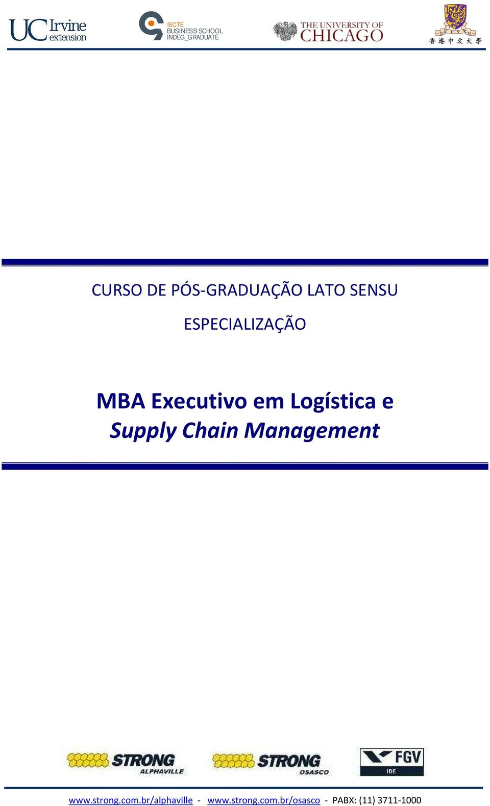 em Logística e Supply Chain Management www.strong.com.