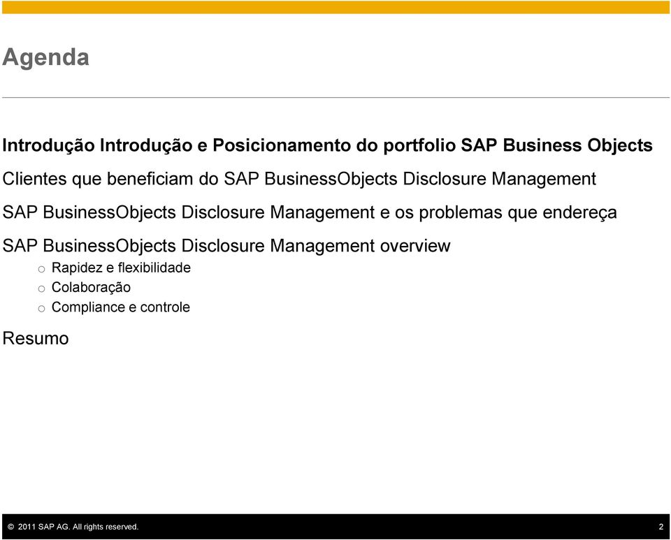 BusinessObjects Disclosure Management e os problemas que endereça SAP BusinessObjects