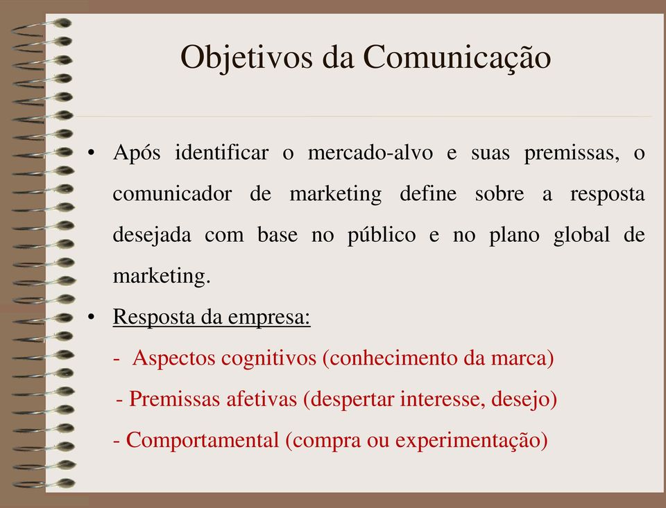 plano global de marketing.