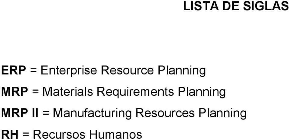 Requirements Planning MRP II =