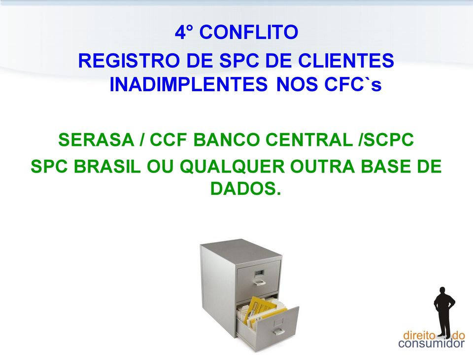SERASA / CCF BANCO CENTRAL /SCPC
