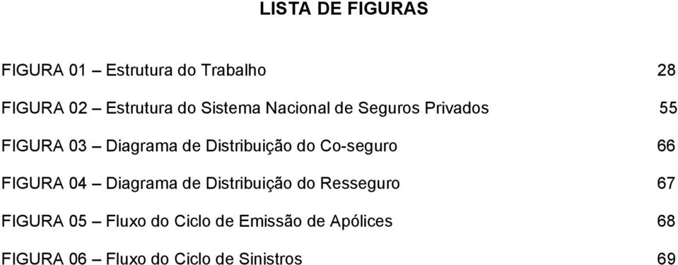 Co-seguro 66 FIGURA 04 Diagrama de Distribuição do Resseguro 67 FIGURA 05