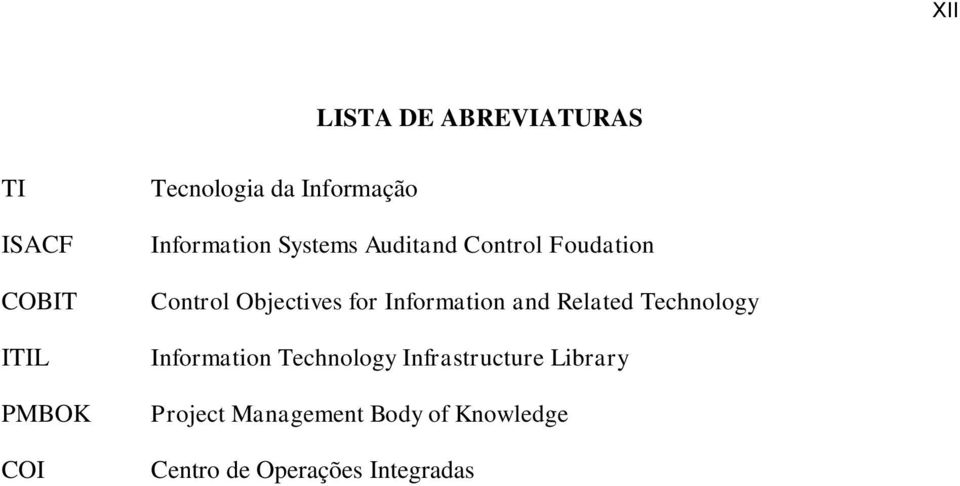 Objectives for Information and Related Technology Information Technology