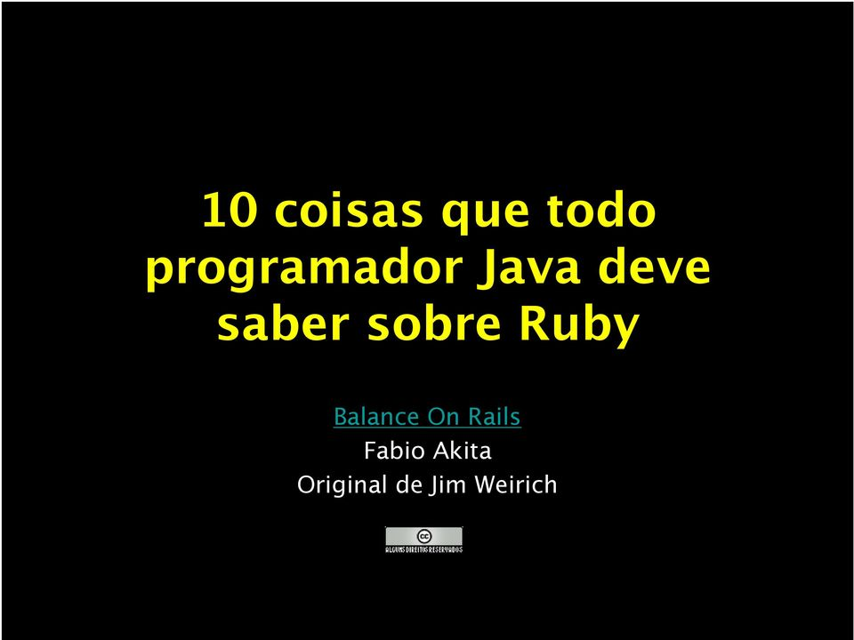 sobre Ruby Balance On Rails