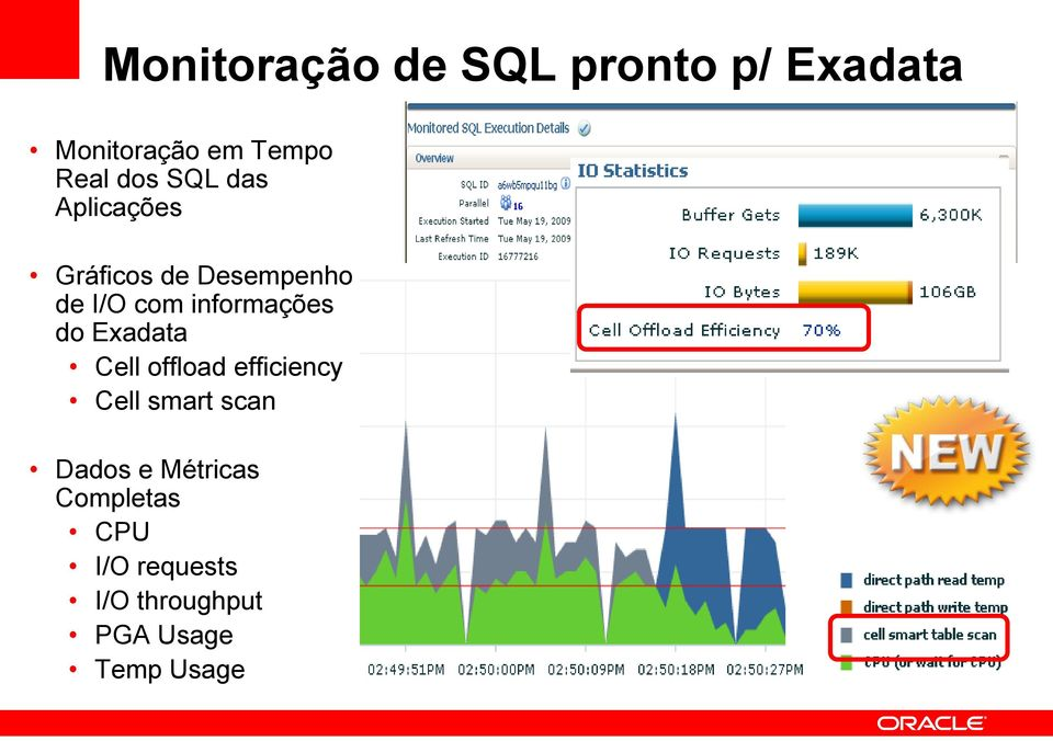 informações do Exadata Cell offload efficiency Cell smart scan