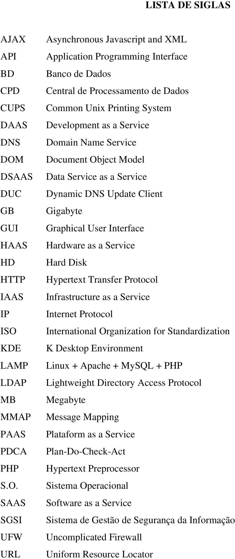 KDE LAMP LDAP MB MMAP PAAS PDCA PHP S.O.
