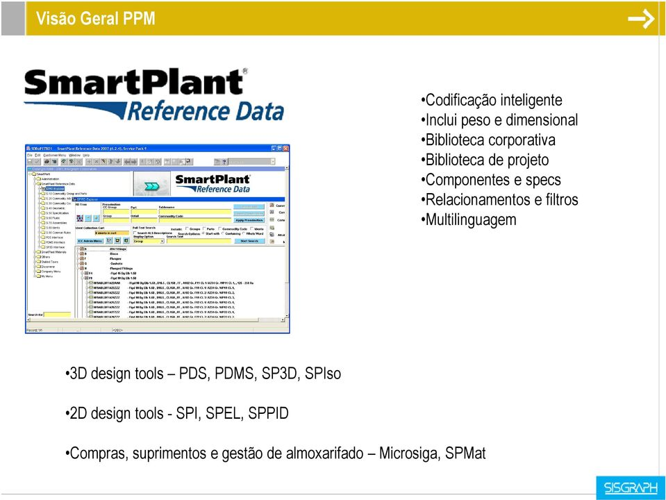 filtros Multilinguagem 3D design tools PDS, PDMS, SP3D, SPIso 2D design