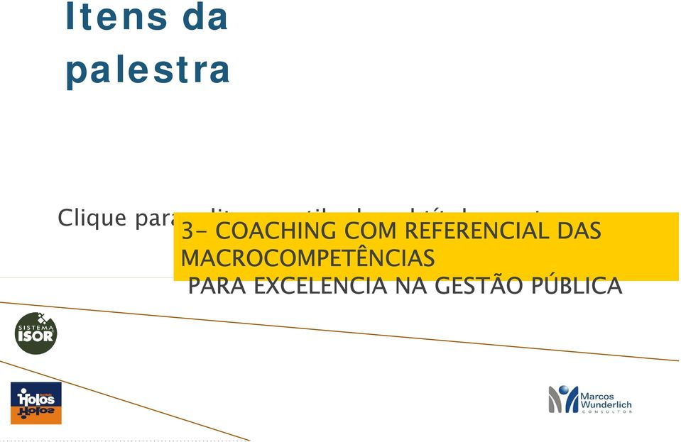 COACHING COM REFERENCIAL DAS