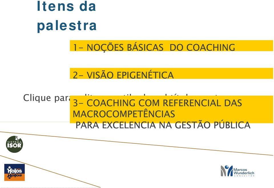 do subtítulo mestre 3- COACHING COM REFERENCIAL