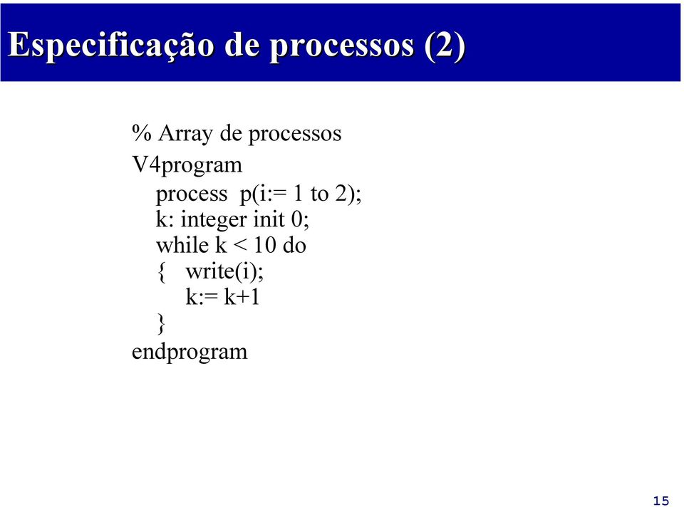 to 2); k: integer init 0; while k < 10