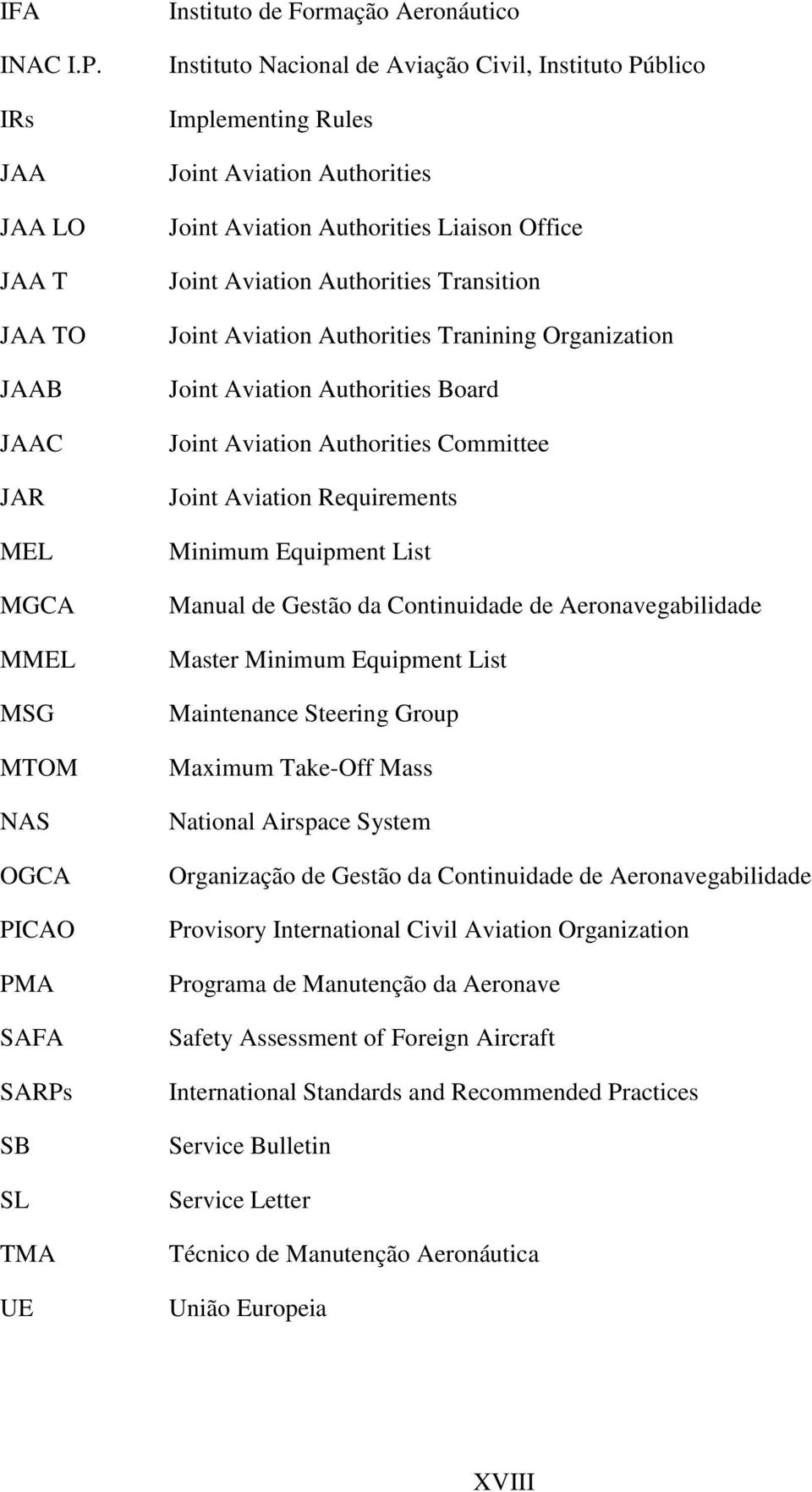 Implementing Rules Joint Aviation Authorities Joint Aviation Authorities Liaison Office Joint Aviation Authorities Transition Joint Aviation Authorities Tranining Organization Joint Aviation