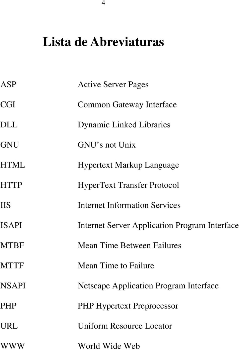 Protocol Internet Information Services Internet Server Application Program Interface Mean Time Between Failures