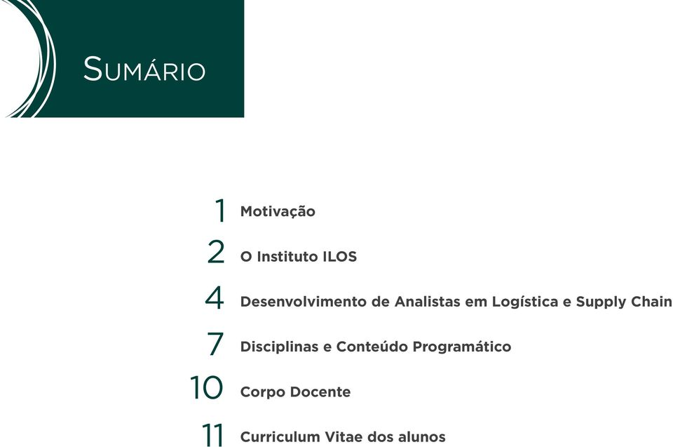 Logística e Supply Chain Disciplinas e