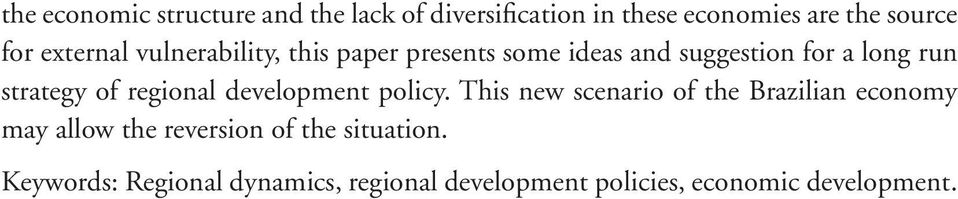 regional development policy.