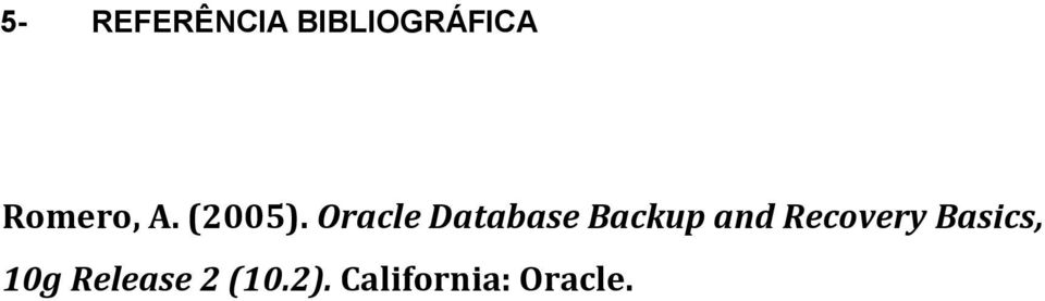 Oracle Database Backup and