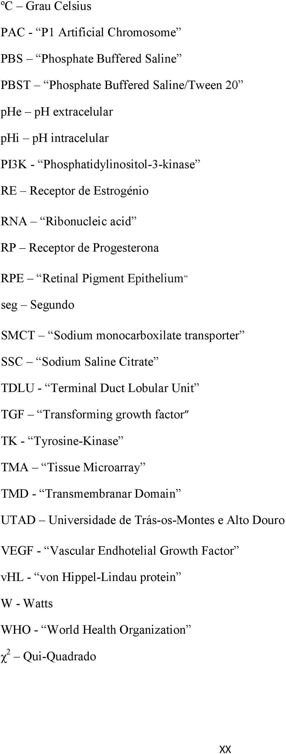 monocarboxilate transporter SSC Sodium Saline Citrate TDLU - Terminal Duct Lobular Unit TGF Transforming growth factor TK - Tyrosine-Kinase TMA Tissue Microarray TMD -