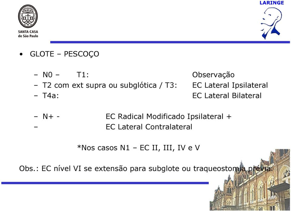 Modificado Ipsilateral + EC Lateral Contralateral *Nos casos N1 EC II,