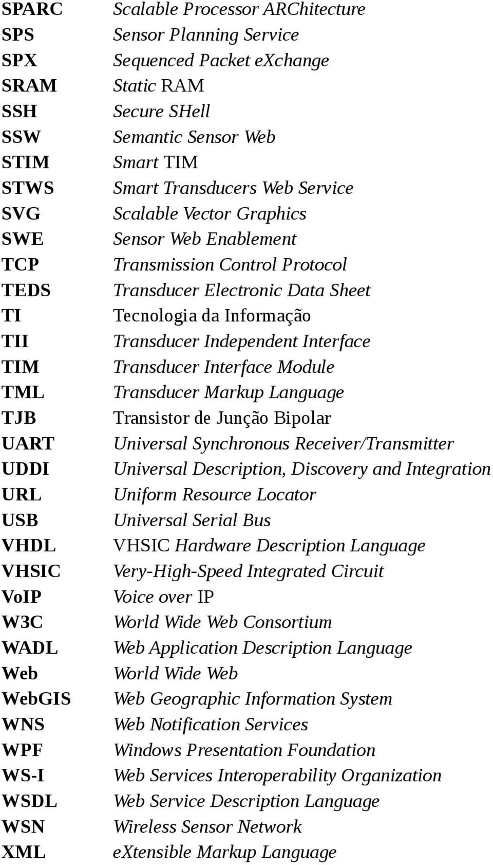 Protocol Transducer Electronic Data Sheet Tecnologia da Informação Transducer Independent Interface Transducer Interface Module Transducer Markup Language Transistor de Junção Bipolar Universal