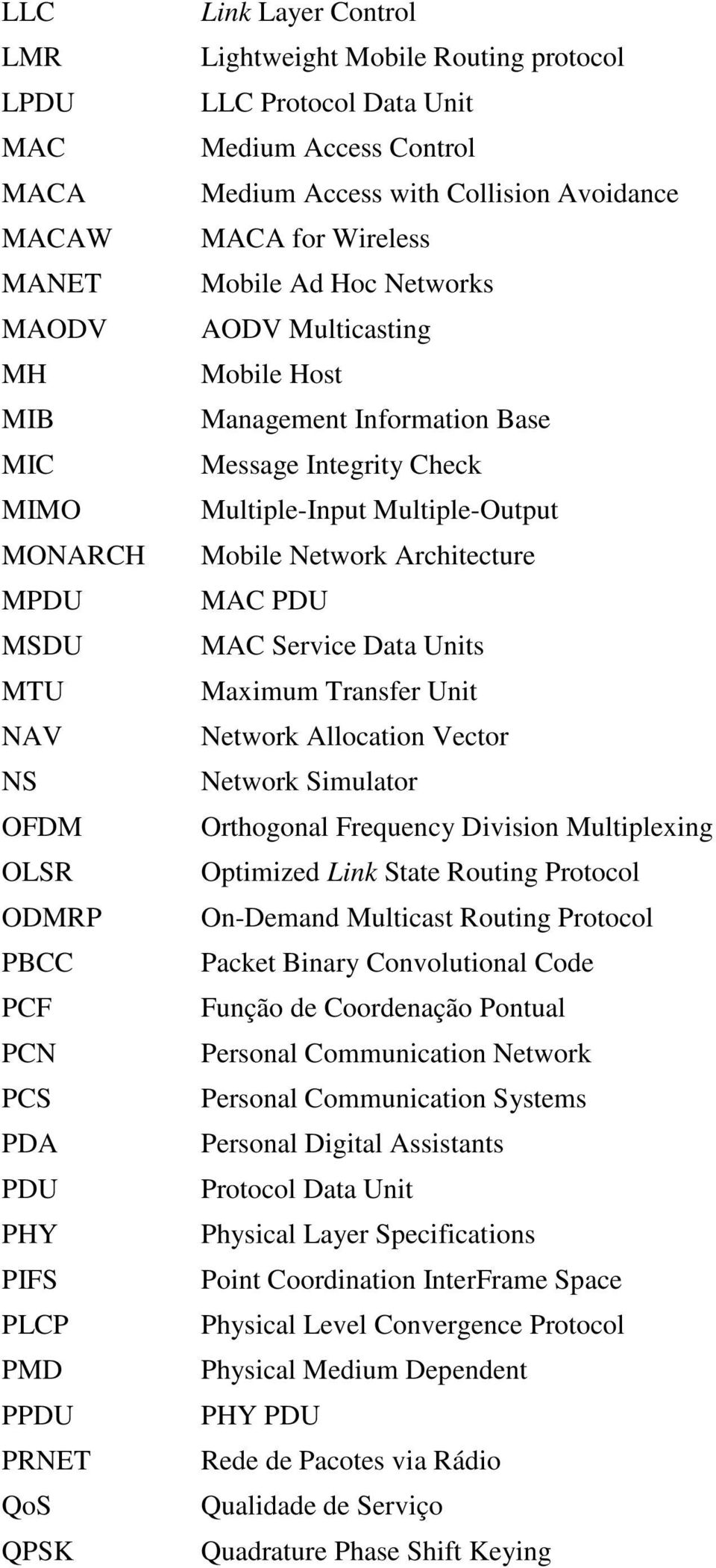 Information Base Message Integrity Check Multiple-Input Multiple-Output Mobile Network Architecture MAC PDU MAC Service Data Units Maximum Transfer Unit Network Allocation Vector Network Simulator