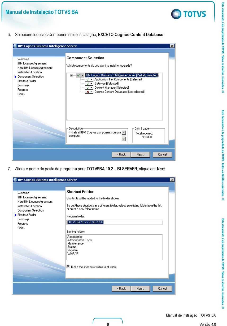 Cognos Content Database 7.
