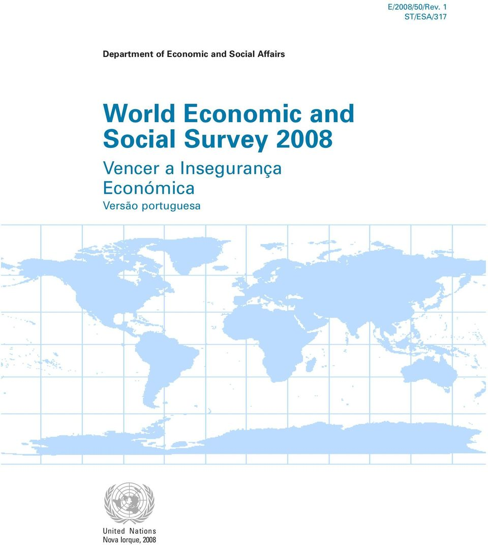 Affairs World Economic and Social Survey 2008