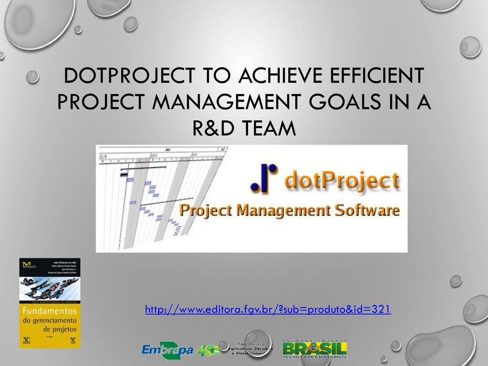 GOALS IN A R&D TEAM