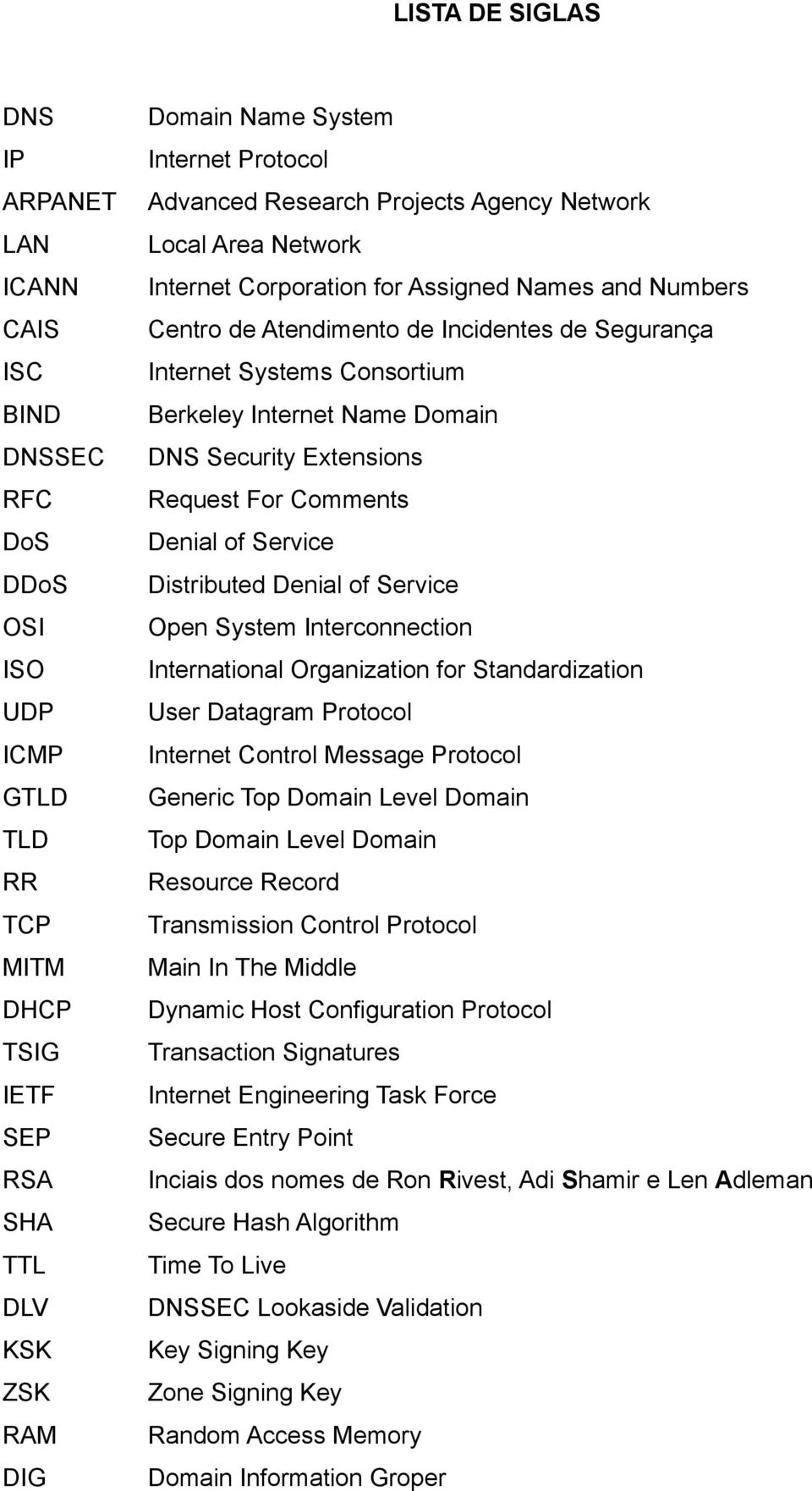Distributed Denial of Service OSI Open System Interconnection ISO International Organization for Standardization UDP User Datagram Protocol ICMP Internet Control Message Protocol GTLD Generic Top