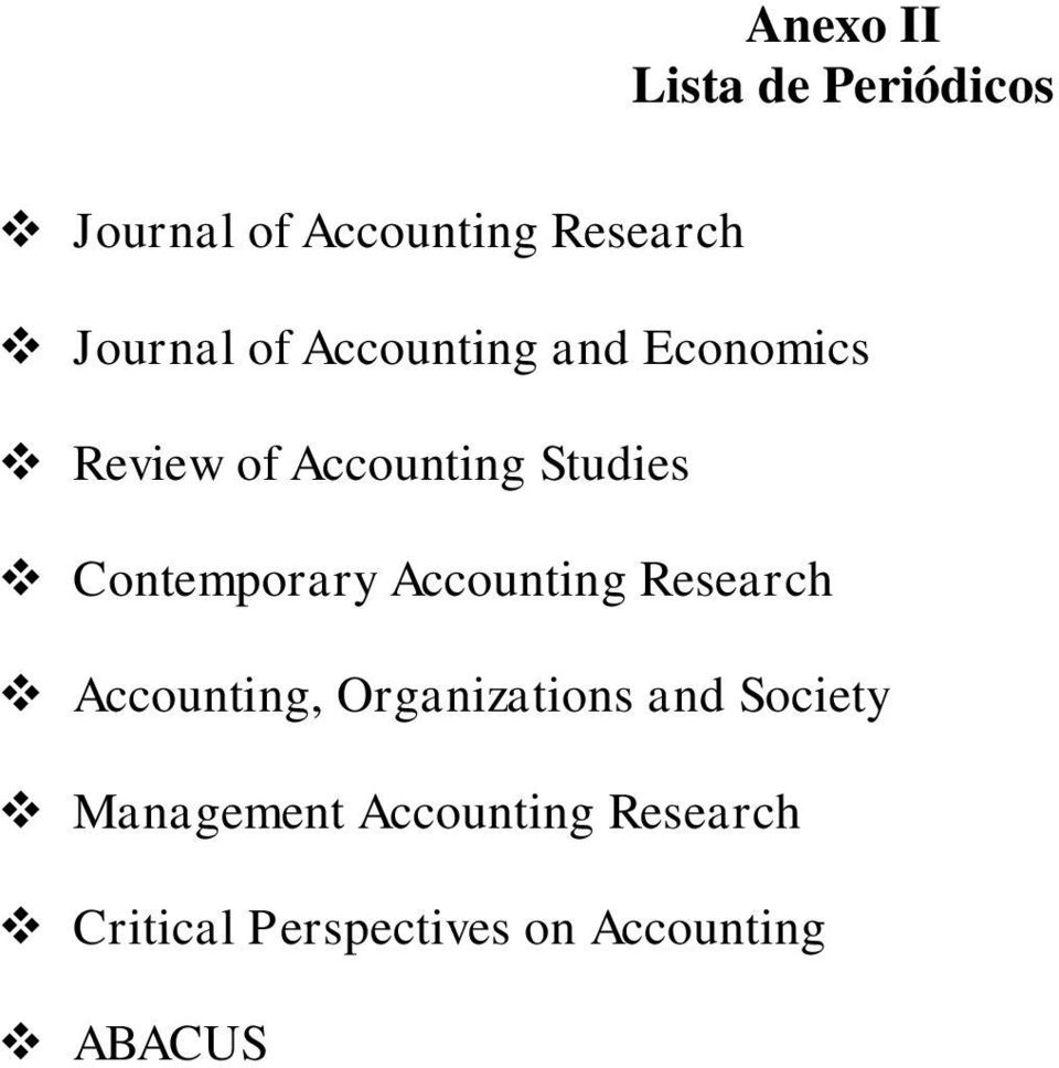 Contemporary Accounting Research Accounting, Organizations and