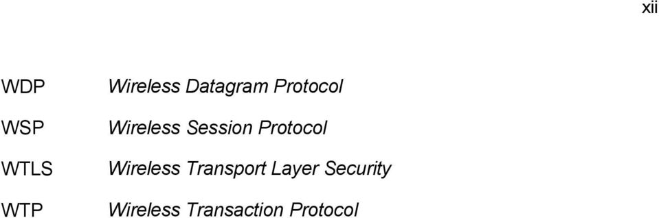 Protocol Wireless Transport Layer