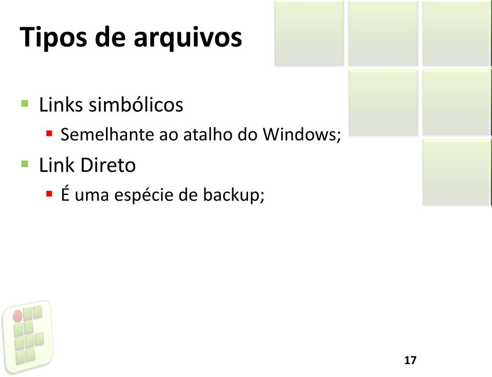 atalho do Windows; Link