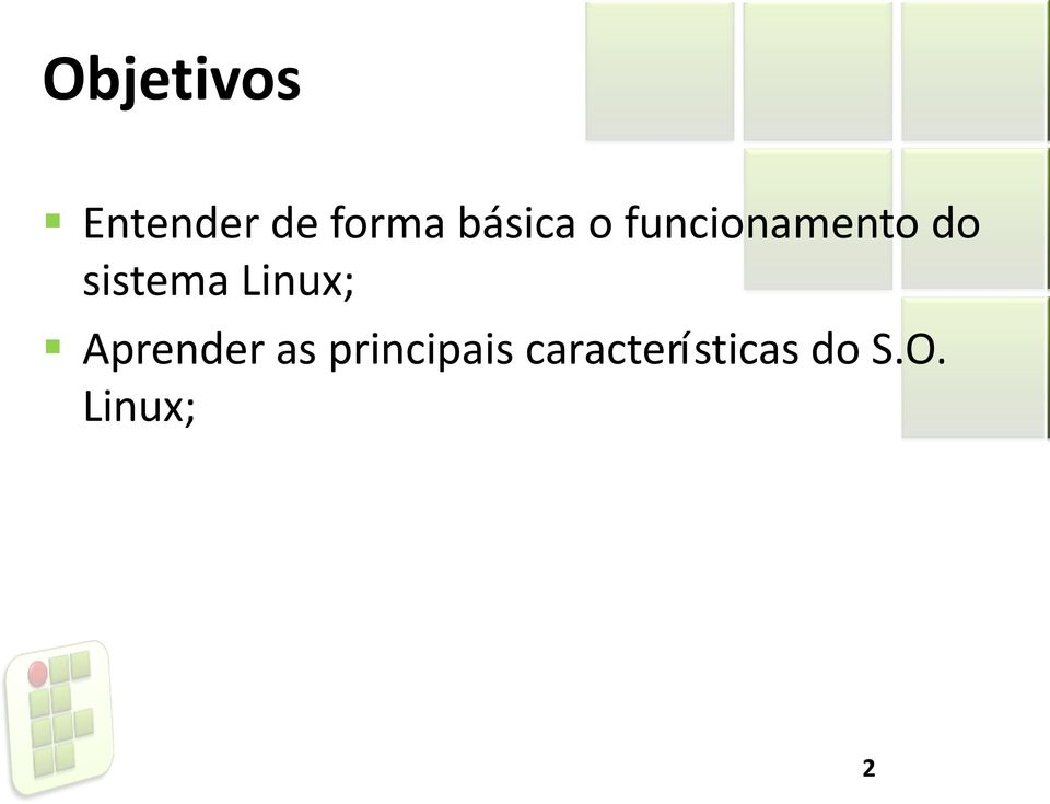 sistema Linux; Aprender as