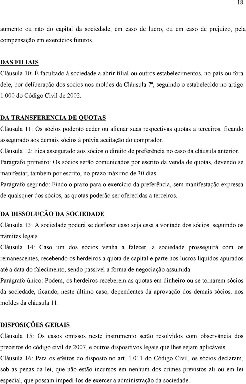 artigo 1.000 do Código Civil de 2002.