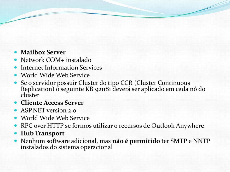 Cliente Access Server ASP.NET version 2.