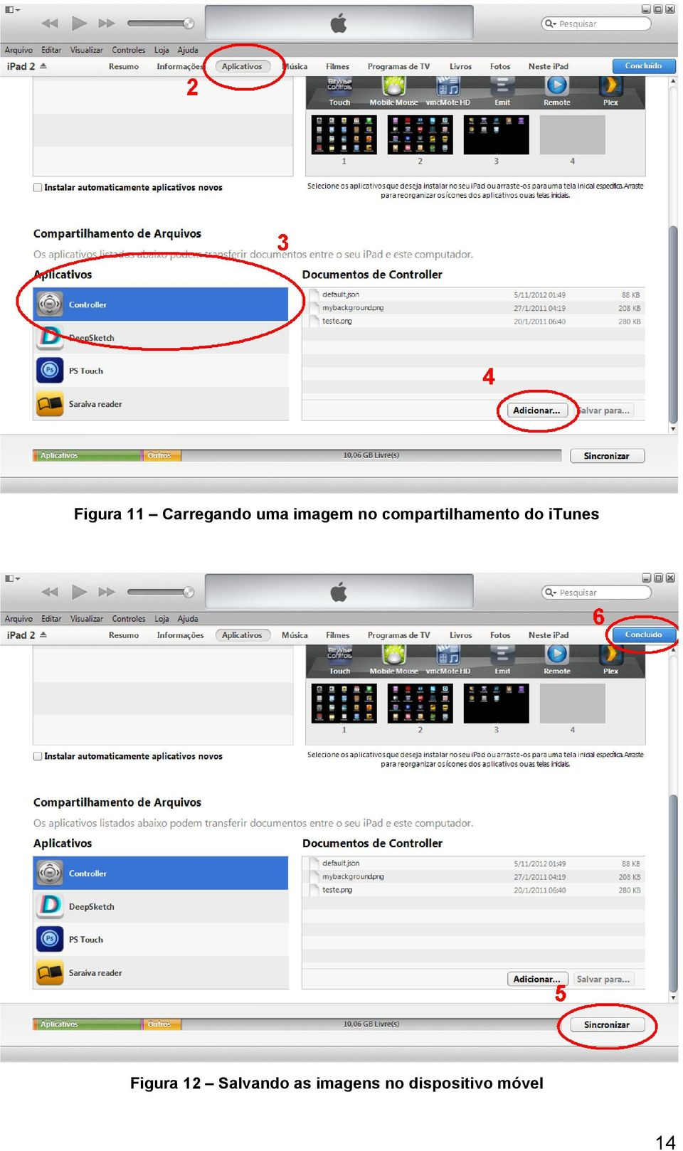 do itunes Figura 12 Salvando