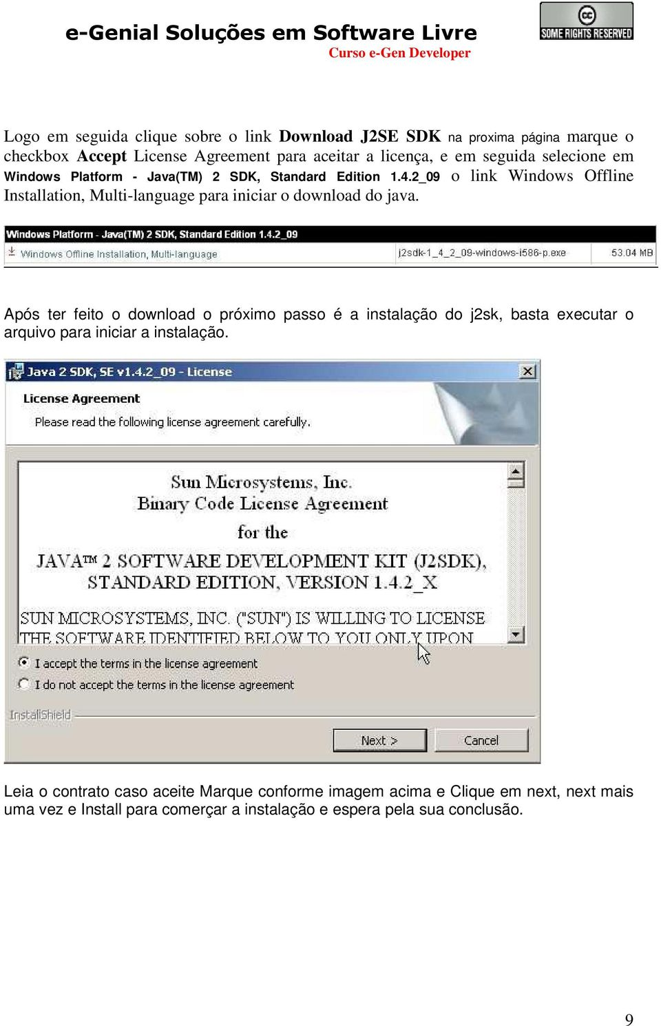 2_09 o link Windows Offline Installation, Multi-language para iniciar o download do java.
