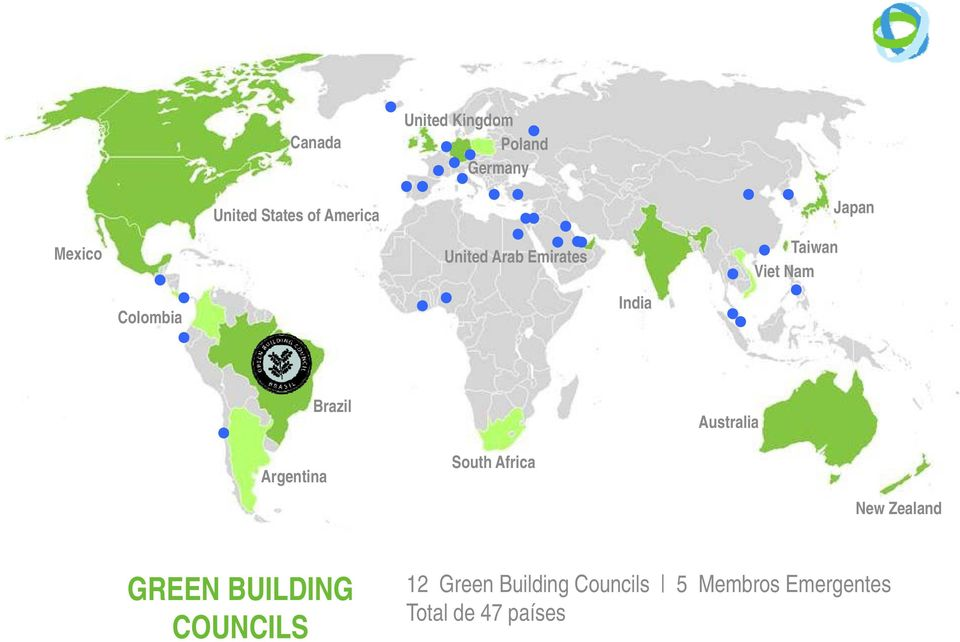 Australia Argentina South Africa New Zealand GREEN BUILDING