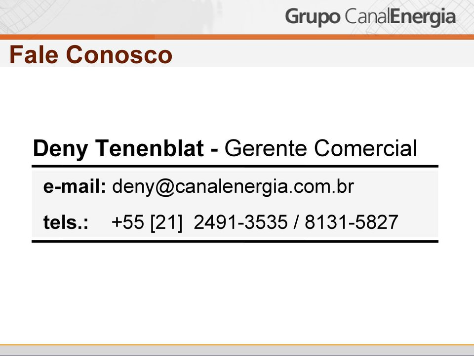 deny@canalenergia.com.br tels.