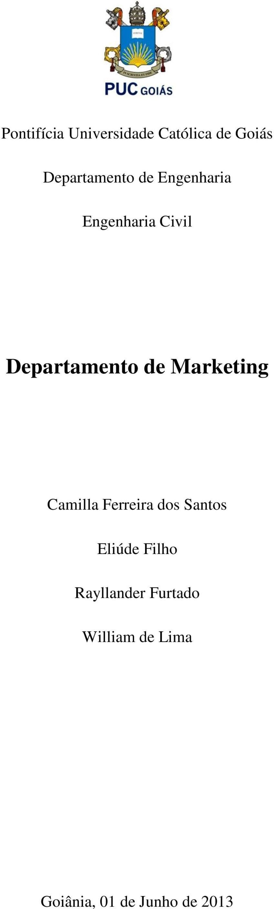 Departamento de Marketing Camilla Ferreira dos Santos