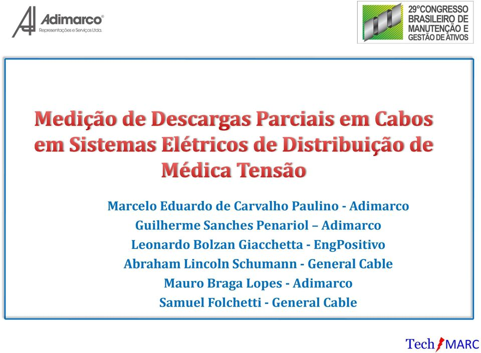 Lincoln Schumann - General Cable Mauro Braga Lopes - Adimarco Samuel