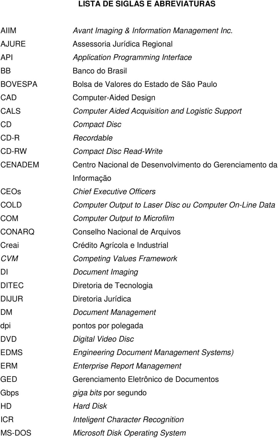 Assessoria Jurídica Regional Application Programming Interface Banco do Brasil Bolsa de Valores do Estado de São Paulo Computer-Aided Design Computer Aided Acquisition and Logistic Support Compact