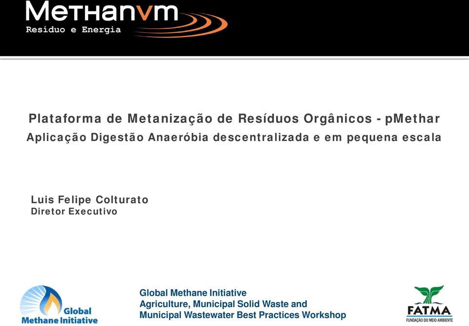 Colturato Diretor Executivo Global Methane Initiative Agriculture,