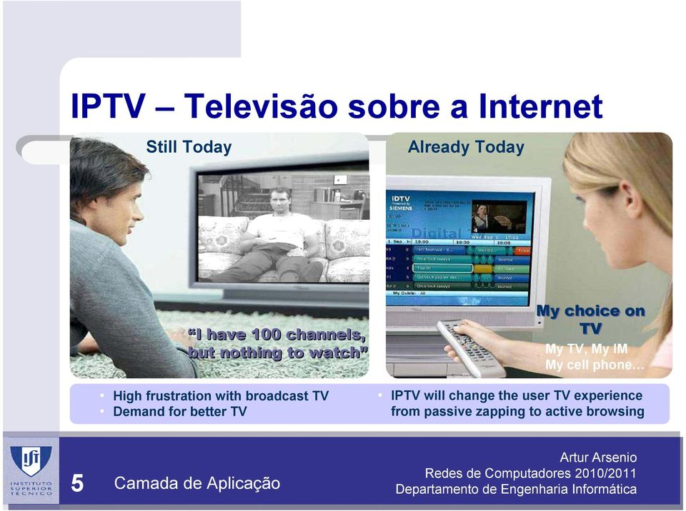 for better TV My choice on TV My TV, My IM My cell phone IPTV will change